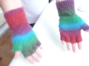 fingerless gloves customized for my daughter