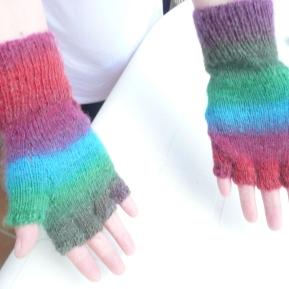 fingerless gloves customized for my daughter